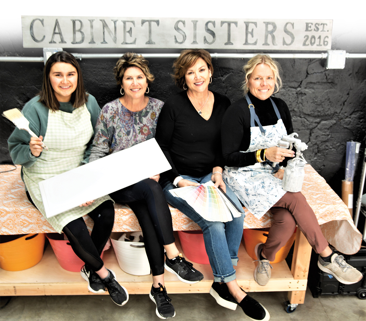 Cabinet Sisters Celebrates New Home